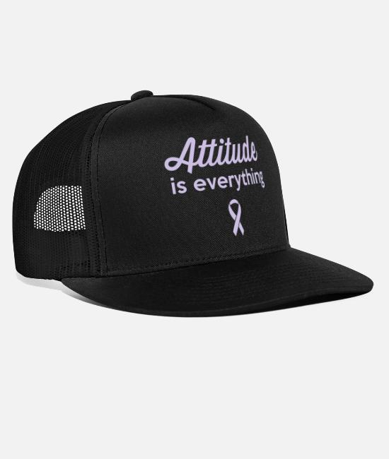Breast Cancer Awareness Caps & Hats - Attitude is Everything - Trucker Cap black/black