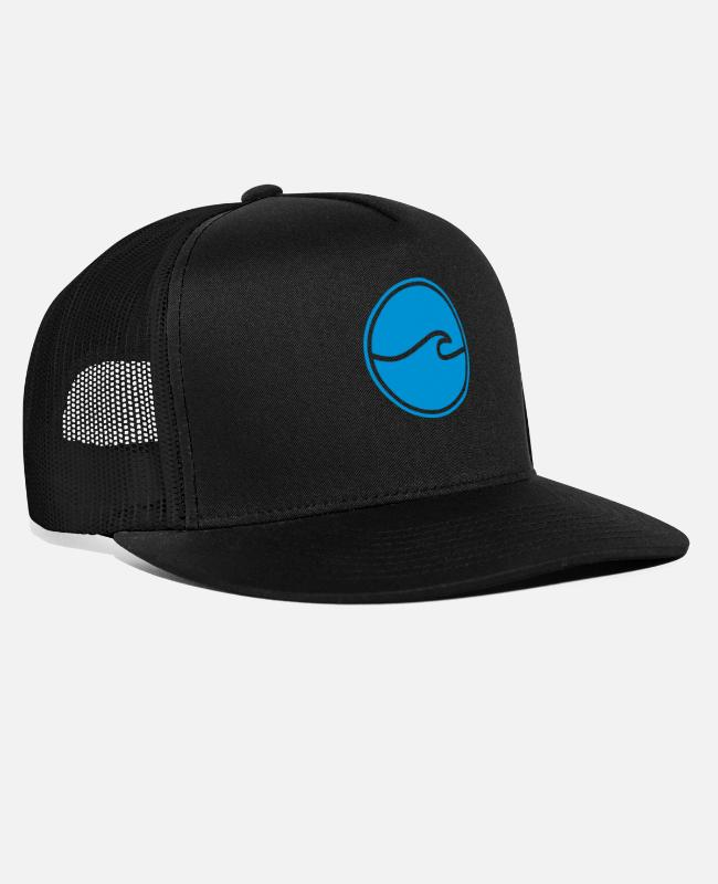 Water Caps & Hats - WAVE - Trucker Cap black/black