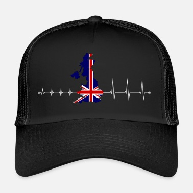 Uk Heartbeat UK - I love UK - Trucker Cap