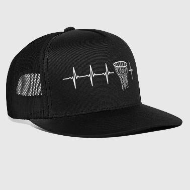 I love basketball (basketball heartbeat) - Trucker Cap