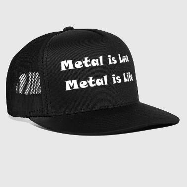 Metal Love Metallic Music Statement Gift Idea - Trucker Cap