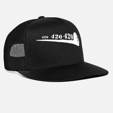 Roker Gewricht 420 Cannabis Ganja High Weed Mary Jane - Trucker cap