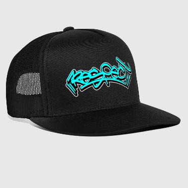 respect graffiti tag - Trucker Cap