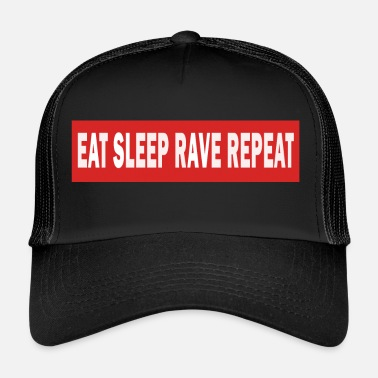 Jumpstyle Spis Sleep Rave Repeat - Electro Dance Music Techno - Trucker Cap
