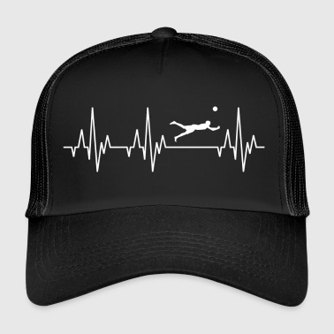 Heartbeat ECG Beach Volleyball Player Sport - Trucker Cap