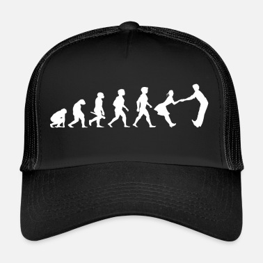 Dance-music Evolution dancing dance couple music dance music - Trucker Cap