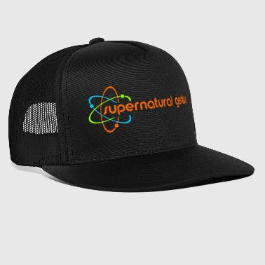 supernatural genius - orange Schrift - Trucker Cap