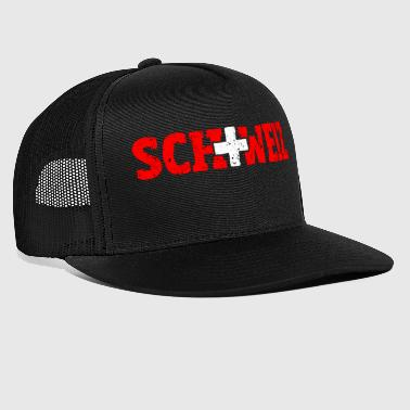 Switzerland lettering with cross red-white - Trucker Cap