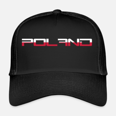 Cool pologne poland texte cool Coupe du monde texte équipe équipe but fan f - Trucker Cap