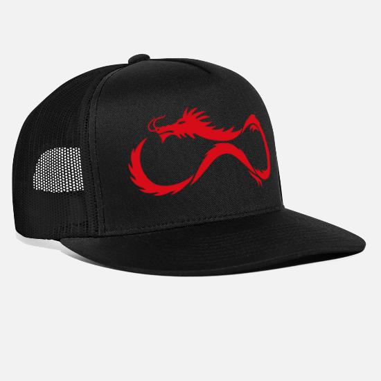 Red Caps & Hats - Red Dragon Shadow - Trucker Cap black/black