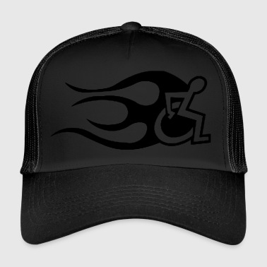 Handicap Flames - Trucker Cap
