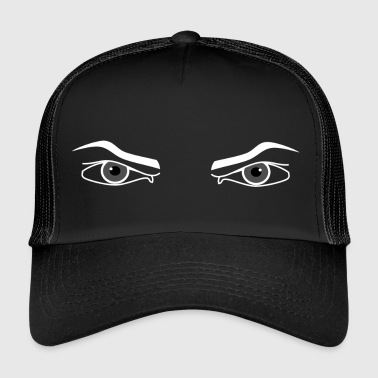 Intimidating Evil look. Angry eyes male intimidating - Trucker Cap