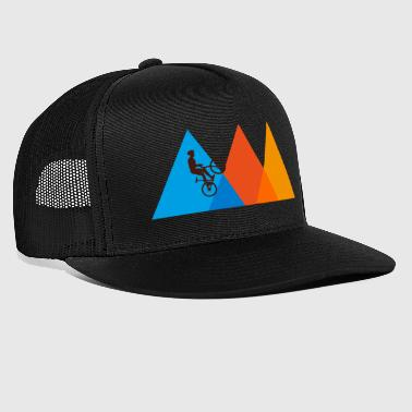 Mountain Biker | Mountain Bike Mountains Bicycle Retro - Trucker Cap