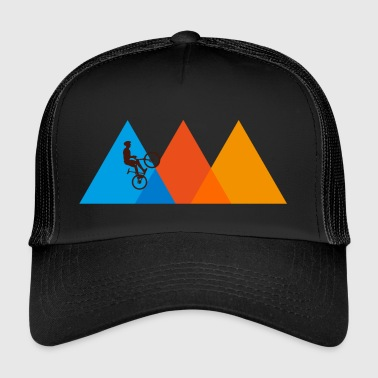 Dirt Mountain Biker | Mountain Bike Mountains Bicycle Retro - Trucker Cap