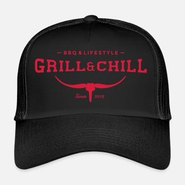 Bbq BBQ and Chill / BBQ and Lifestyle logo 2 - Trucker Cap