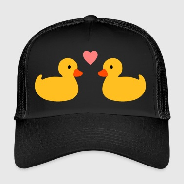 Rubber Duck Squeaky heart - Trucker Cap