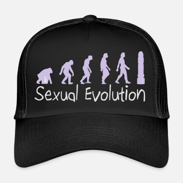 Dildo Sexual Evolution From Ape To Erect Man. - Trucker Cap