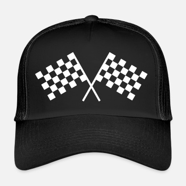 Race Car Driver Car racing flags - Trucker Cap