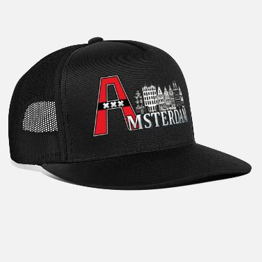 Amsterdam Amsterdam with a large A - Trucker Cap