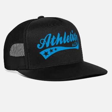 Friidrett athletics is life - retro - Trucker cap