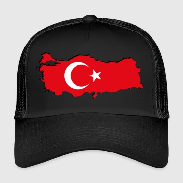 Geographic Turkey flag in geographic form - Trucker Cap