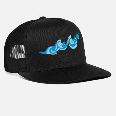 Sea Underwear Waves 2C - Trucker Cap