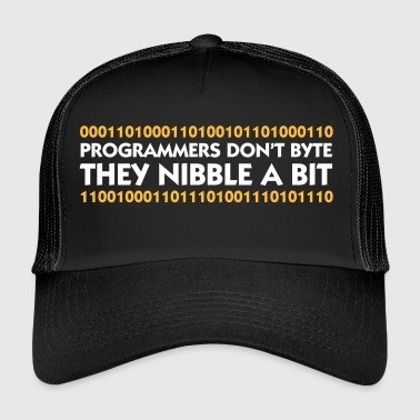 Programmers Do Not Bite. They Nibble A Bit! - Trucker Cap