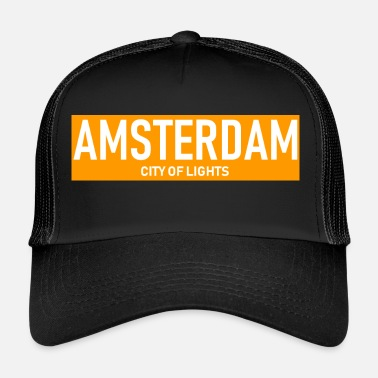 Amsterdam Amsterdam - City of Lights - Holandia - Holandia - Trucker Cap