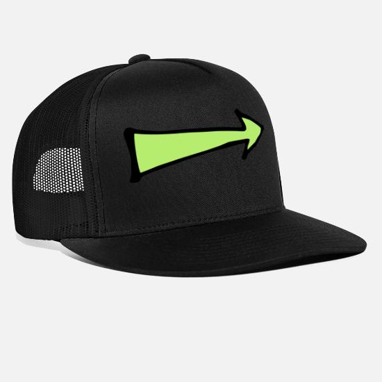 Arrow And Bow Caps & Hats - arrow - Trucker Cap black/black