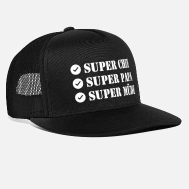 Super Super Chef Super Papa Super Tired - Trucker Cap
