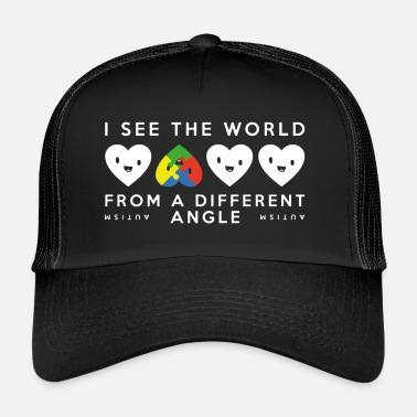 Autism Awareness Autism Different Angle T Shirt - Trucker Cap