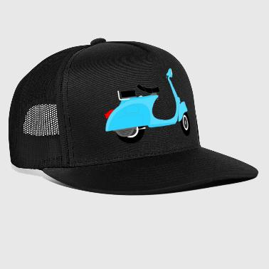 The blue scooter - Trucker Cap