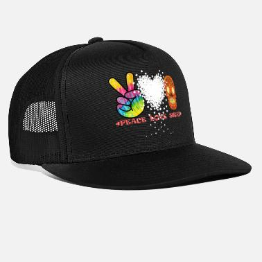 Calaveras Peace,Love, Sugar - Gorra trucker