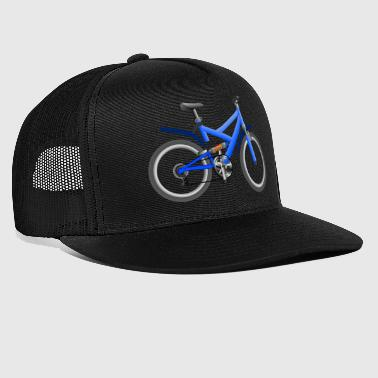 bicycle mountain bike cyclist mountain bike - Trucker Cap