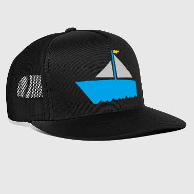 paddle boat sail boat rowing boat sailboat53 - Trucker Cap