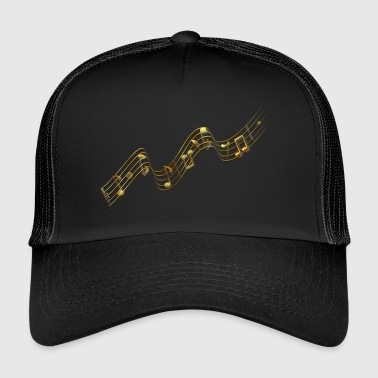 wavy pentagram with notes - Trucker Cap