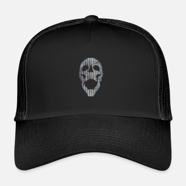 Glitch Art Skull - Trucker cap