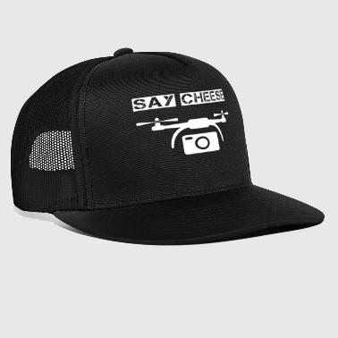 drone i love drones say cheese - Trucker Cap