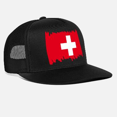 National Drapeau national suisse - pinceau - Casquette trucker