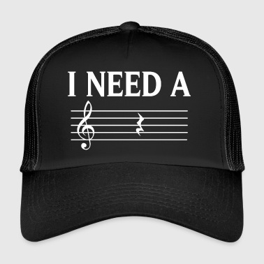 Music Music Music Society T-Shirt - I Need A Rest - Trucker Cap