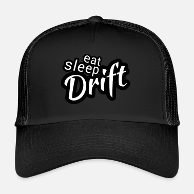 Turbo Eat sleep Drift black white - Trucker Cap