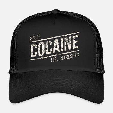 Cocaine Sniff Cocaine - Cocaine Drugs - Trucker Cap