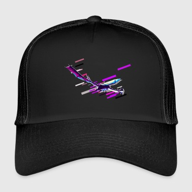 Atlantis Dragon Fantasy 80s Retro Violet - Trucker Cap