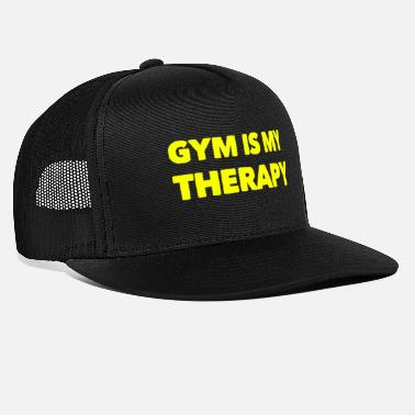Therapy GYM IS MY THERAPY - FITNESS - WORKOUT - THERAPIE - Trucker Cap