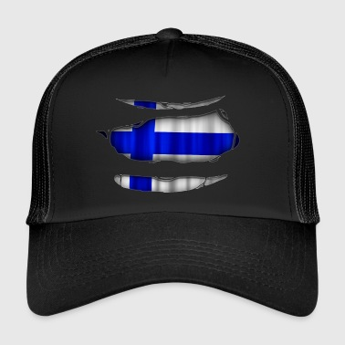Finland flag torn 017 - Trucker Cap