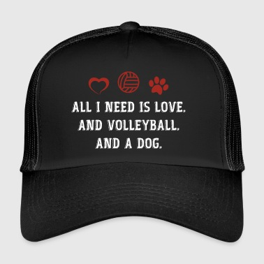 Volley-ball - Chien - cadeau - joueur de volley-ball - Trucker Cap