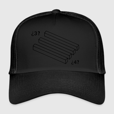 optical illusions 3 to 4 sticks - Gorra de camionero