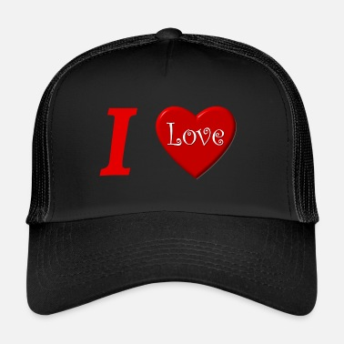 I Love I love I love in Love - Trucker Cap