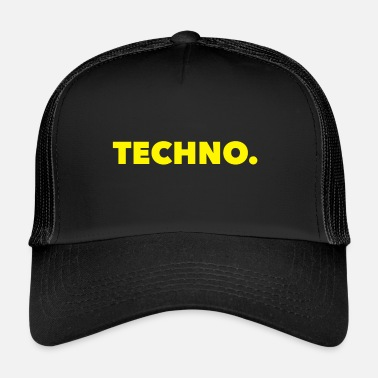 Techno Music Techno Music-logo geel - Trucker Cap