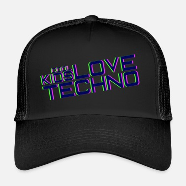 I Love Techno Cool kids love techno - Gorra de camionero